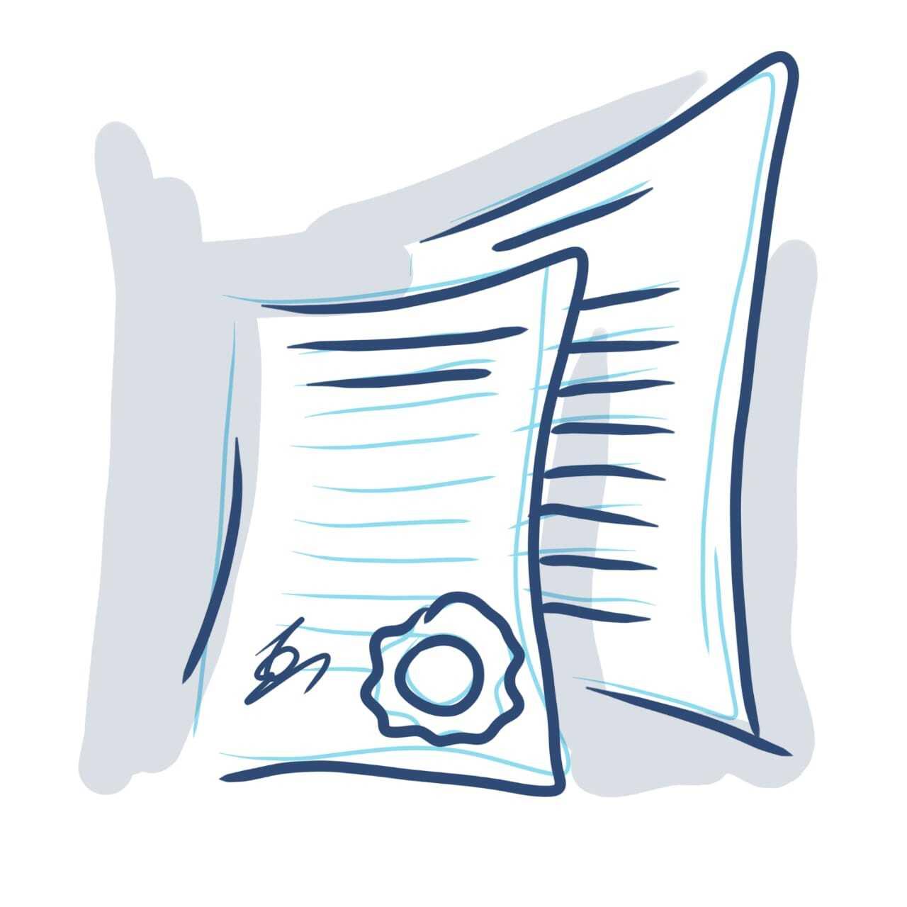 Иконка для рубрики «Документы» специально для сайта «Факты о Саентологии»